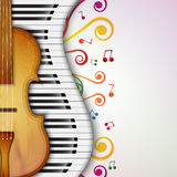 Background with violin Royalty Free Stock Photo