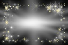 Background VIP card Star on black sky has lighting at center Royalty Free Stock Photography