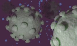 Background of virus, 3d. Render Stock Images