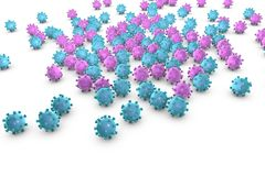 Background with viruses Royalty Free Stock Photo