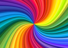 Abstract rainbow swirl. Background of vivid rainbow colored swirl twisting towards center. Paper A4 size Vector illustration vector illustration