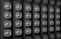 Background from voice loud speakers Stock Images