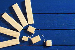 Background with wafers Stock Photos