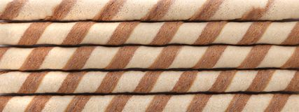 Background of waffle rolls Royalty Free Stock Photography