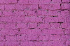 Background wall the brick violet lilac bright Stock Image