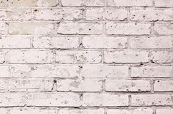 Background wall brick, white, beige texture Stock Images