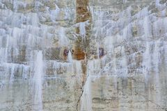 Background wall with calcification and rust stock photography