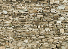 Background - a wall made ​​of natural stone Stock Image