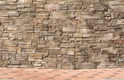 Background wall made of bricks  strong Royalty Free Stock Image
