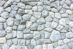 Background wall made of stones held together with cement Stock Images