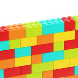 Background wall made of toy blocks Royalty Free Stock Photos