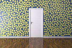 Background Wall with Post it Royalty Free Stock Images