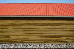 Background of Wall and Roof Stock Image
