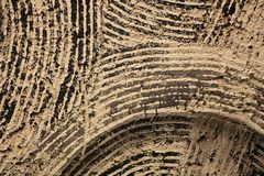 Background wall texture brown with black stripes Royalty Free Stock Image