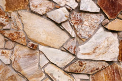 Background Wall of Textured Stone Siding from the 1970`s Stock Photos
