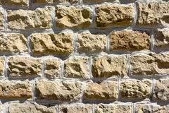 Background of a wall of textured stones Royalty Free Stock Photos