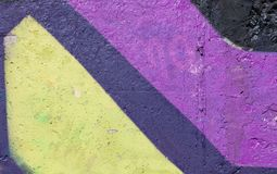 Background wall violet yellow, black, blue bright, facade Royalty Free Stock Photography