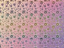 A background or wallpaper made of Colorful hologram stars vector illustration