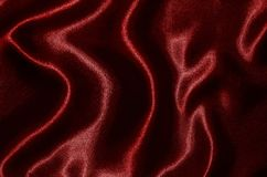 Background and wallpaper by red fabric and stripe textile. Abstract Background by red fabric, Wallpaper and texture by textile red, Top view and wave of stripe royalty free stock photos
