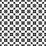 Abstract black and white textured geometric seamless pattern. Background, wallpaper, screen sever, book cover, screen printing, laser cutting designs Vector Royalty Free Stock Photography
