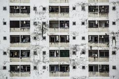 Background and Wallpaper or Texture of old Condominium Building facade. Royalty Free Stock Images