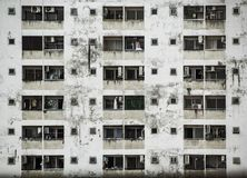 Background and Wallpaper or Texture of old Condominium Building facade. Stock Image