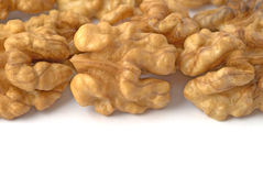 Background with walnuts. Copy space for your own text Royalty Free Stock Image