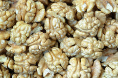 Background with walnuts. Close up. Stock Photo