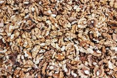 Background of walnuts stock image