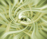 Background in warm tones. Abstract background in warm tones with streaming green and yellow fibres Stock Photography