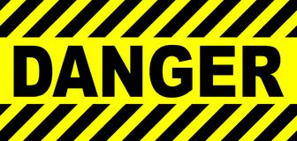 Yellow And Black Danger Sign stock illustration