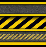 Background with warning stripes Stock Photos