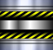 Background with warning stripes Royalty Free Stock Image