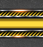 Background with warning stripes Stock Photography