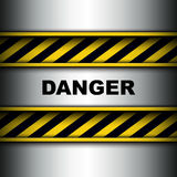 Background with warning stripes Stock Image