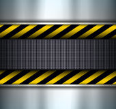 Background with warning stripes Stock Photo