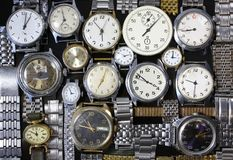 Background-watches. Background from old antique watches Royalty Free Stock Images