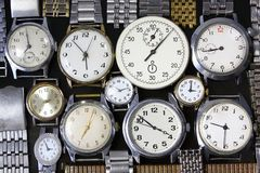 Background-watches. Background from old antique watches Royalty Free Stock Photography