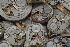 Background - watches. Background of old whatches mechanisms with gears Royalty Free Stock Photography