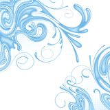 Background of water. Raster version of vector background of water Stock Image