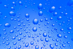 Background of water big and small drops Stock Photography