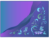 Background: water, butterflies and flowers Royalty Free Stock Image