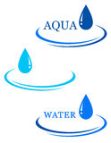 Background with water drop sign Stock Photos