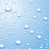 Background with water drops. Blue background with water drops. Vector illustration Royalty Free Stock Photos