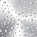 Background with water drops on metal Stock Image