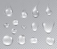 Background with water drops. Water drops on textured background. Vector paper illustration Stock Image