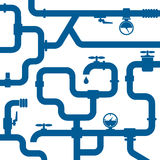 Background of water pipeline Stock Images