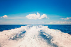 Background water surface behind of fast moving motor boat vintage retro style Stock Image