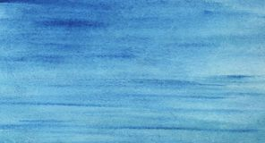 Background water surface with a slight ripple. Gradient from blu. E to dark blue. Hand-painted watercolor illustration stock illustration