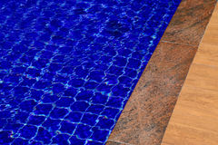 Background of water in the swimming pool with a wave Royalty Free Stock Photos